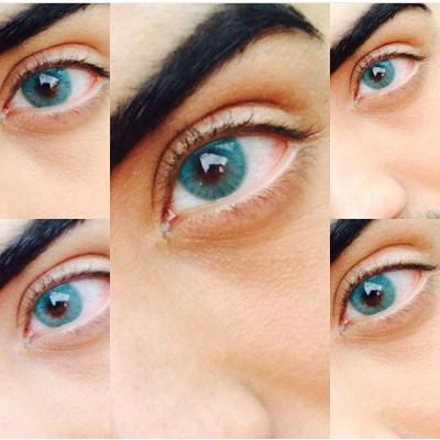 لنز رنگی سولوتیکا marine ترکیب سبز و آبی