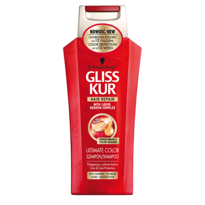 شامپو کراتینه گلیز شوارزکوف برای موهای رنگ شده gliss schwarzkopf